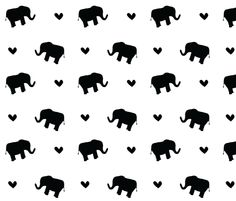 Elephant love <3 fabric by ireneflorentina on Spoonflower - custom fabric