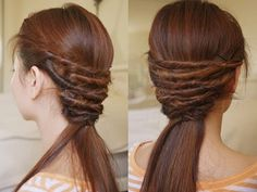 Twist/Pull Back/Half Up-Do/Crossed Over