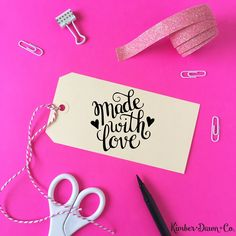 Hand Lettered Made with Love Cut File Hand Lettered Made with Love Cut File Wouldn't this be cute stamped on DIY Gift Tags? I'm going to make a custom stamp with my Silhouette Mint™ machine! …