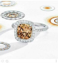 Aura champagne ring design