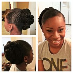 Faux Bun Natural Hair Style Protective Styles For
