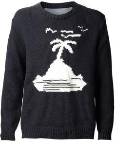 JULIEN DAVID Gray Madness Graphic Sweater