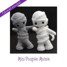 Patron crochet : Mini Poupée Momie : Matériel Crochet par le-royaume-des-tetes-d-epingles