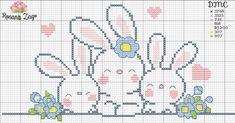 Cross Stitch Heart, Cross Stitch Flowers, Cross Stitch Patterns, Baby Gifts, Christmas Tree Ornaments, Bunny, Bullet Journal, Kids Rugs, Crochet