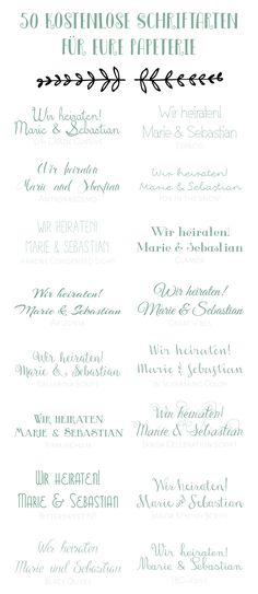 Best Picture of Free Wedding Invitation Fonts Free Wedding Invitation Fonts 50 Kostenlose Schriftarten Fr Eure Hochzeitspapeterie 50 Free Wedding Invitation Fonts, Diy Wedding Stationery, Wedding Invitations Online, Wedding Fonts, Invitation Cards, Wedding Letters, Wedding Paper, Hand Lettering, Lettering Styles