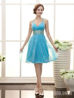 Organza V-Neckline Short Mini Corset Cocktail Dress with Ruffle and Sequin Beautiful Cocktail Dresses, A Line Cocktail Dress, Womens Cocktail Dresses, Junior Prom Dresses, Prom Dresses 2015, Prom Party Dresses, Prom Gowns, Occasion Dresses, Wedding Dresses