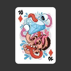 52 Aces: Artist Series Deck – view more (wacky) images @ http://www.juxtapoz.com/Illustration/52-aces-artist-series-deck# – #illustrations #cards #aces