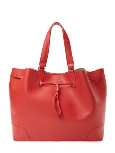 Furla Stacy Large Saffiano Leather Drawstring Tote