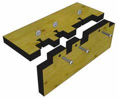 Biased box corner with Pettis joints. MAKE