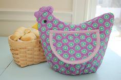 Funky Chicken - Roll, Bread or Buscuit Basket Cover