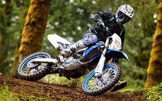 Download wallpapers Yamaha WR450F, motocross, 2018 bikes, rider, offroad, Yamaha