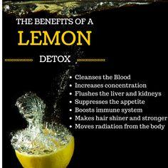The Benefits of a Lemon Detox - Liver Cleanse - doTERRA Essential Oils