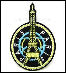 PATCHS THERMOCOLLANTS BLASON - UNE HISTOIRE DE MODE #PARIS #MODE #TOUR EIFFEL Patches, Paris Mode, Tour Eiffel, Christmas Ornaments, Holiday Decor, Diy, Coat Of Arms, Sewing, Embroidery