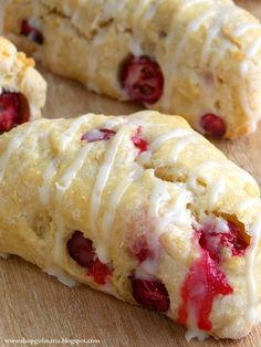 Cranberry Scones with a lemon glaze. Favorite favors!!!
