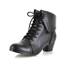 Charm Foot Fashion Womens Low Heel Martin Boots Short Boots (10.5, Black) -- Insider's special review you can't miss. Read more  : Boots