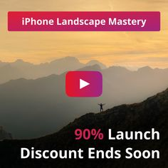 Huge 90% Discount On Our iPhone Landscape Photography Course ENDS SOON! Landscape Photography Tips, Photography Courses, Photography Workshops, Landscape Photos, Iphone Photography, Professional Photographer, Online Courses, Photo Editing, Product Launch