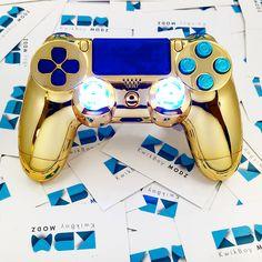 Chrome Gold Dualshock 4 PS4 Controller