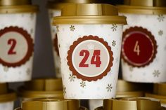Adventskalender aus Pappbechern / Coffee to go