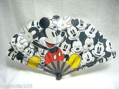 Japanese Portable Folding Fan Sensu Summer Cool Disney Mickey Waterproof Water | eBay