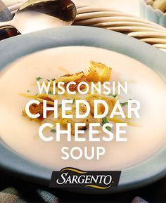 Quick, easy Meatless Monday soup with only 10 mins of prep time. Simmer soup ingredients, stir in our shredded Sharp Cheddar cheese and top with crispy croutons.