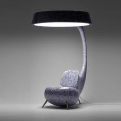 chair with built in lamp