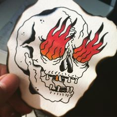 Skull & Fire by Young Albert.