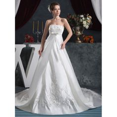 Find More Wedding Dresses Information about 2016 New Strapless A Line Wedding Dresses With Embroidery Beading Sequined Bow Pleat Plus Size Bridal Gowns Robe De Mariage W296,High Quality dress up summer fashion,China dress watercolor Suppliers, Cheap dress multiply from Juliana Wedding Dresses Store on Aliexpress.com