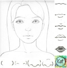 Learn How to Draw Noses! Cute as a button in 4 simple steps - Kat can Paint...