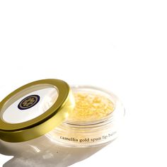 Give a subtle glow to your lips with our Goldspun Camellia Lip Balm.