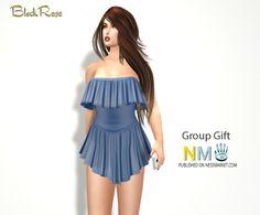 Second Life Free Gift Ruffle Mini Dress