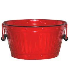 Fireside Home - K-132 Red Enamel Tub - Medium - Red,  #tinware #vintage #homedecor #homeaccent #gift #decor (http://www.firesidehome.ca/k-132-red-enamel-tub-medium-red/)