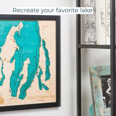 Whether for your own home, lakehouse, or as a gift for another lake-lover, these custom lake maps will always be a hit! One of a kind three-dimensional wood map. A bathymetric representation of your favorite lake or coastal area, including roads and local details. Choose from over 6,000 lake maps currently available.