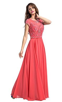 Chic Belle Women Chiffon Coral Beaded Long Evening Gown P... https://www.amazon.com/dp/B01EQ2O1V6/ref=cm_sw_r_pi_dp_oc3txb57TZ44T