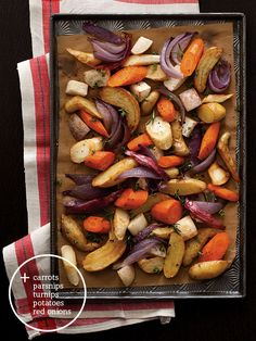 Aromatic Roasted Root Vegetables