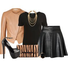 A fashion look from August 2014 featuring short sleeve tops, michael kors jackets and circle skirt. Browse and shop related looks.