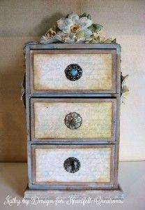 Heartfelt Creations Altered Dresser 01