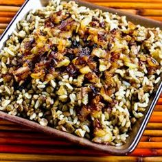 Recipe for Mujadarra (Middle Eastern Lentils and Rice with Caramelized Onions) | Kalyn's Kitchen®