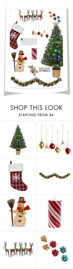 """""""Red Christmas"""" by chase-stars ❤ liked on Polyvore featuring interior, interiors, interior design, home, home decor, interior decorating, Merske, H&M, Improvements and Meri Meri"""