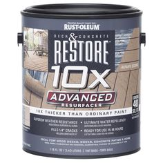 Rust-Oleum Restore Advanced Concrete & Wood Deck Sealer (Pack of Deck Sealer, Concrete Resurfacing, Exterior Stain, Cool Deck, Deck Decorating, Composite Decking, Pvc Decking, Wooden Decks, Deck Design