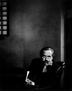 Portrait by Yousuf Karsh (1908-2002), April 1974, Marshall McLuhan at the Royal Ontario Museum, Toronto.