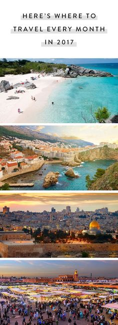 Here's Where to Travel Every Month in 2017 via @PureWow