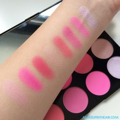 paleta-makeup-revolution-all-about-pink-swatch