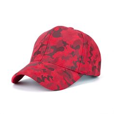 fc2811137cd Promotion sport custom red camo cadet military quality suede baseball cap  Flat Hats