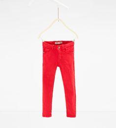 Afbeelding 1 van Gekleurde skinny broek van Zara