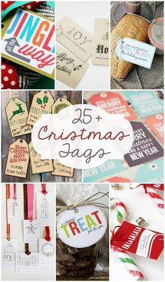 25+ Free Christmas Tags to use for gifts and treats! { lilluna.com }
