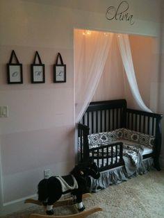 Take off closet doors, remove shelving, insert crib. I'm doing this!