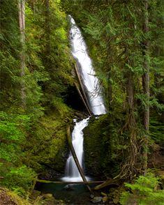 Murhut Falls located South of Brinnon in the Duckabush Recreation Area off Highway 101, Washington