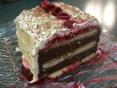 Cook with Sara: Chocolate Mousse Cake with Raspberry Sauce Chocolate Mousse Cake, Chocolate Cakes, Cake Recipes, Dessert Recipes, Raspberry Sauce, Bread Cake, Cupcake Cakes, Cupcakes, No Bake Cake