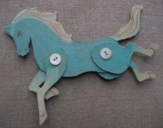 .cardboard horses