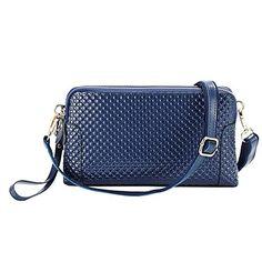 Shengdilu Women's Genuine Leather Purse Shoulder Crossbody Wallet Bag Wristlet Clutch Evening Party